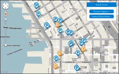 Pioneer Square Parking map